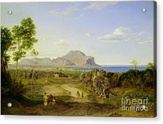 View Over Palermo Acrylic Print by Carl Rottmann