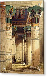 View Under The Grand Portico Acrylic Print by David Roberts