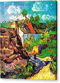 Vincent Van Gogh Houses At Auvers  Acrylic Print by Pg Reproductions