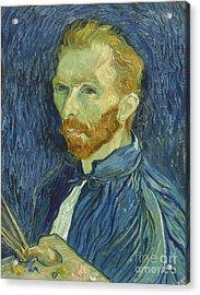Vincent Van Gogh Self-portrait 1889 Acrylic Print by Vincent Van Gogh