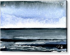 Vineyard Squall Acrylic Print by Paul Gaj