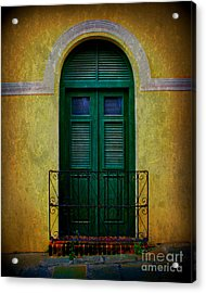Vintage Arched Door Acrylic Print by Perry Webster