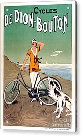 Vintage Bicycle Advertising Acrylic Print by Mindy Sommers