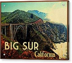 Vintage Big Sur California Acrylic Print by Flo Karp