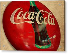 Vintage Coca Cola Sign Acrylic Print by Design Turnpike
