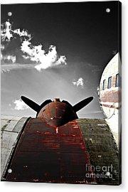 Vintage Dc-3 Aircraft  Acrylic Print by Steven  Digman