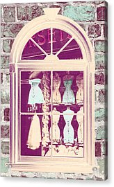 Vintage French Corset Shop Acrylic Print by Mindy Sommers
