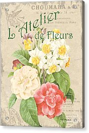 Vintage French Flower Shop 1 Acrylic Print by Debbie DeWitt