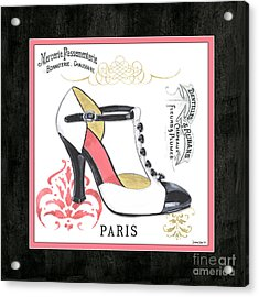 Vintage French Shoes 1 Acrylic Print by Debbie DeWitt