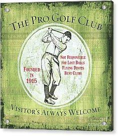 Vintage Golf Green 2 Acrylic Print by Debbie DeWitt