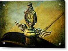 Vintage Hood Ornament Acrylic Print by Cathie Tyler