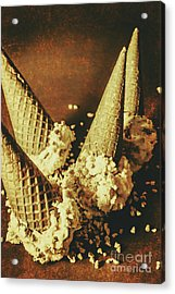 Vintage Ice Cream Cones Still Life Acrylic Print by Jorgo Photography - Wall Art Gallery