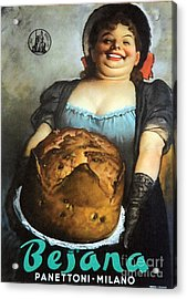 Vintage Italian Fresh Baked Bread Acrylic Print by Mindy Sommers