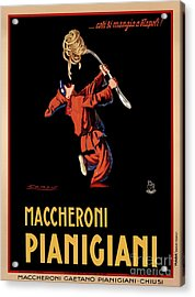 Vintage Italian Pasta Advertising Acrylic Print by Mindy Sommers