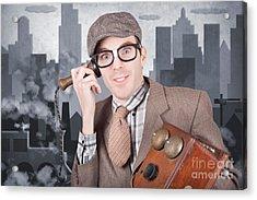 Vintage Journalist. Breaking News Press Release Acrylic Print by Jorgo Photography - Wall Art Gallery