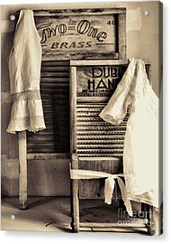 Vintage Laundry Room Acrylic Print by Mindy Sommers