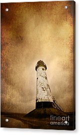 Vintage Lighthouse Acrylic Print by Meirion Matthias