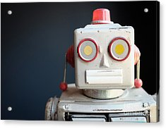 Vintage Mechanical Robot Toy Acrylic Print by Edward Fielding