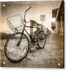 Vintage Ol' Bike Acrylic Print by Debra and Dave Vanderlaan