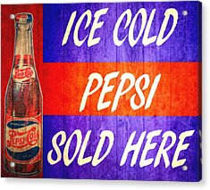 Vintage Pepsi Cola Barn Door Acrylic Print by Dan Sproul
