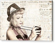 Vintage Press Photographer Acrylic Print by Jorgo Photography - Wall Art Gallery