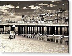 Vintage Steel Pier Acrylic Print by John Rizzuto