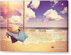 Vintage Summer Postcard Acrylic Print by Amanda Elwell