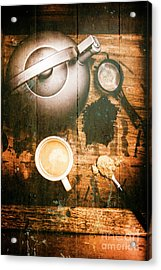 Vintage Tea Crate Cafe Art Acrylic Print by Jorgo Photography - Wall Art Gallery