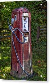 Vintage Tokheim Gas Pump Acrylic Print by Susan Candelario
