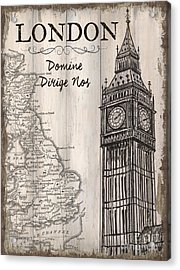 Vintage Travel Poster London Acrylic Print by Debbie DeWitt