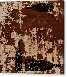 Vintage Wine Acrylic Print by Frank Tschakert