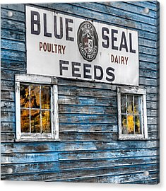 Vintage Feed Sign Acrylic Print by Bill Wakeley