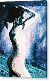 Violet Nude Acrylic Print by John Keaton