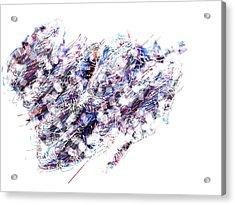 Violet Storm Acrylic Print by Ingrid Van Amsterdam
