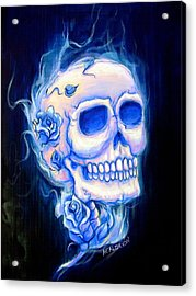 Violeta Acrylic Print by Heather Calderon