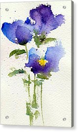 Violets Acrylic Print by Anne Duke