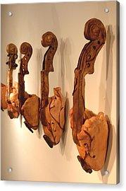 Violin Hearts Acrylic Print by Karissa Bishop