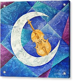 Violin-moon Acrylic Print by Son  Of the Moon
