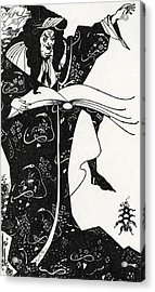 Virgilius The Sorcerer Acrylic Print by Aubrey Beardsley
