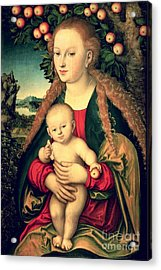 Virgin And Child Under An Apple Tree Acrylic Print by Lucas Cranach the Elder