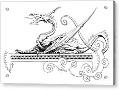 Viserion Logo Acrylic Print by Richard Hescox