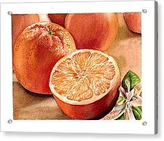 Vitamin C Acrylic Print by Irina Sztukowski