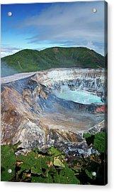 Volcan Poas Acrylic Print by Kryssia Campos