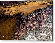 Acrylic Print featuring the photograph Volcanic Ridge II by M G Whittingham