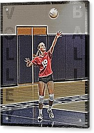 Volleyball Girl Acrylic Print by Kelley King