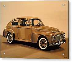 Volvo Pv 544 1958 Painting Acrylic Print by Paul Meijering