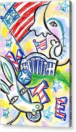 Voting For Political Party Acrylic Print by Leon Zernitsky
