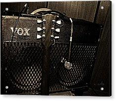 Vox Amp Acrylic Print by Chris Berry