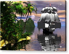 Voyage Of Captain Cook Acrylic Print by Claude McCoy