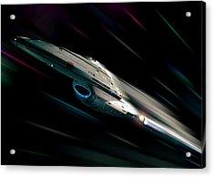 Voyager At Warp Acrylic Print by Joseph Soiza